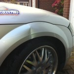 Dented Audi TT wing