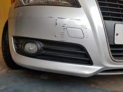 Audi bumper damage repair