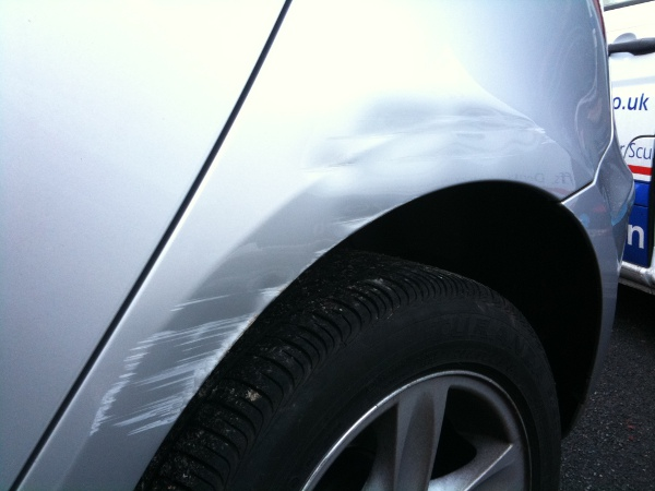 Car Body Repair Southport BMW wheel arch dent