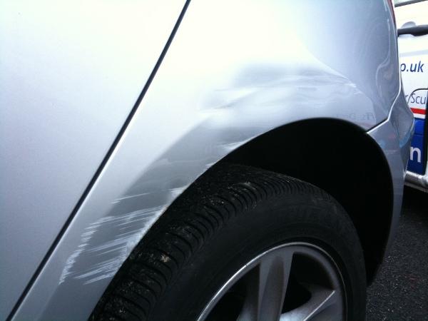 Car Body Repair Southport BMW wheel arch dent