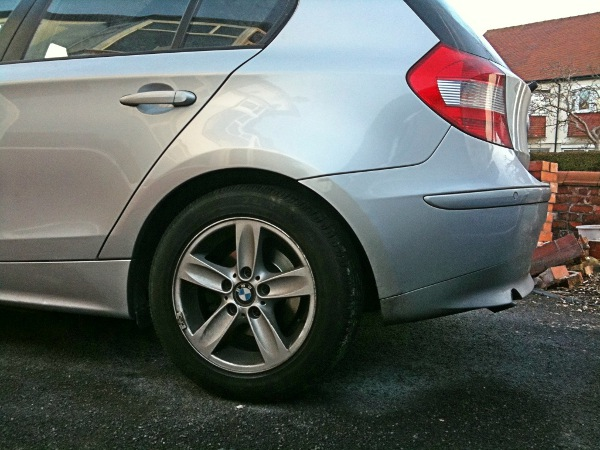 car body repair Southport BMW repaired wheel arch
