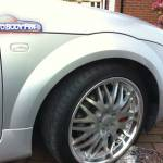 Audi TT Dented Wheel Arch After